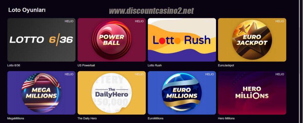 Discount Casino Loto oyunları